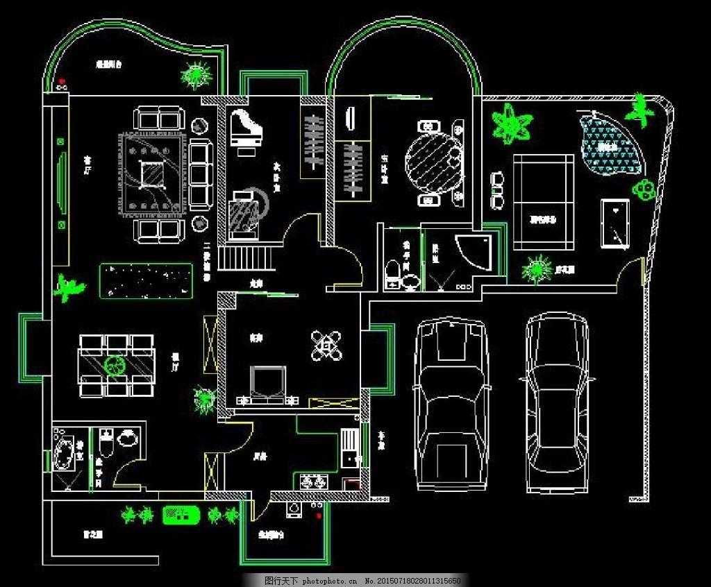 别墅建筑图 楼房 图纸 建筑图纸 别墅图纸 黑色