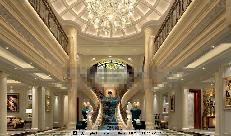 酒店大堂下载 酒店效果图 大堂效果图 大堂设计 欧式大堂 酒店3d源