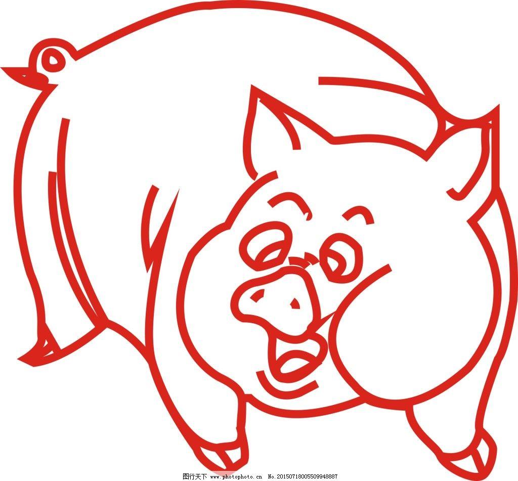 猪图案简笔画
