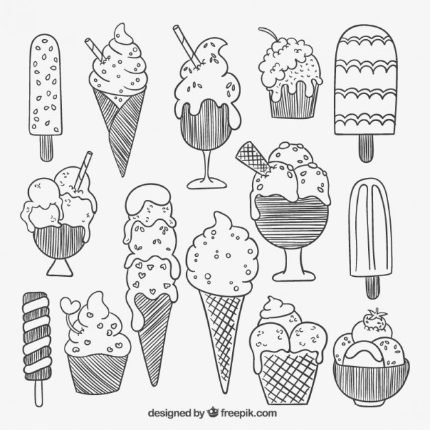 粗略的冰淇淋图片