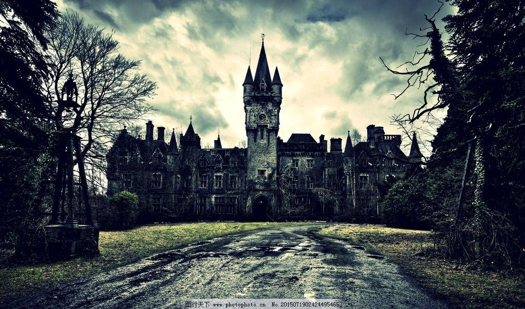 欧式恐怖城堡图片