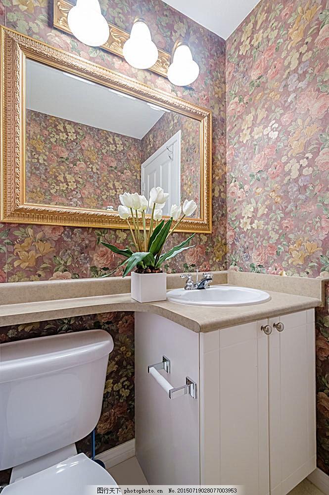 欧式复古卫生间设计图,洗手间 效果图 装修图 室内-图