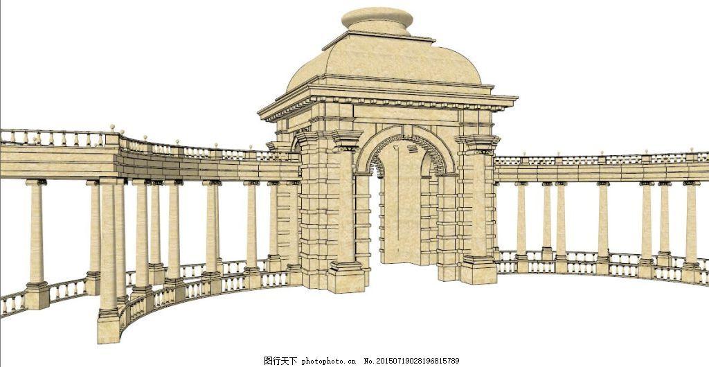 宫廷式廊架,欧式廊架 木质 园林素材 园林景观 花架