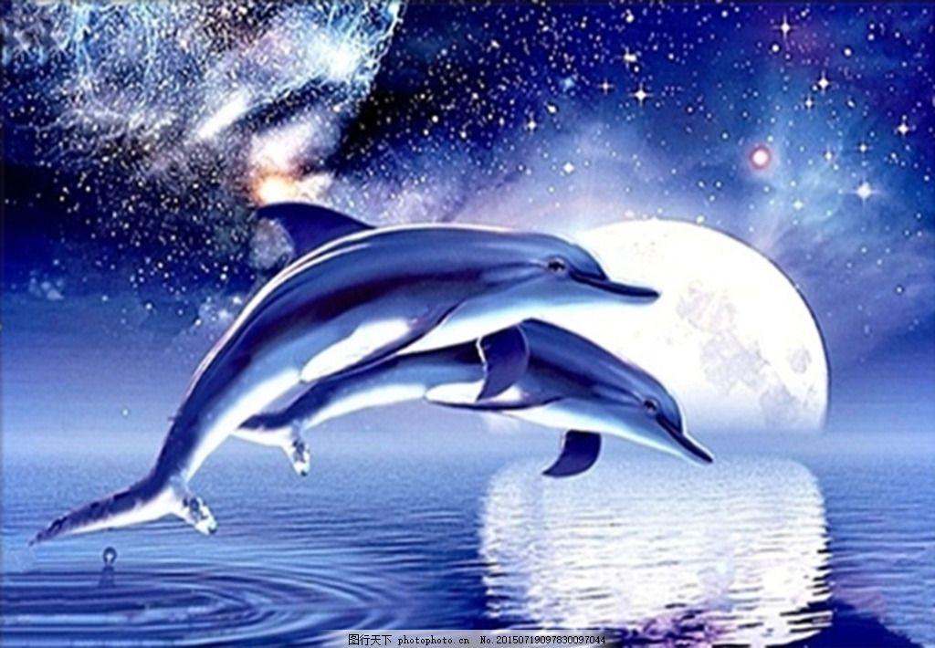 水彩星空鲸鱼 手绘