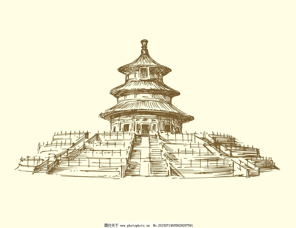绘画书法 建筑园林 欧式建筑 欧洲建筑 手绘建筑 素描 线描 欧式建筑