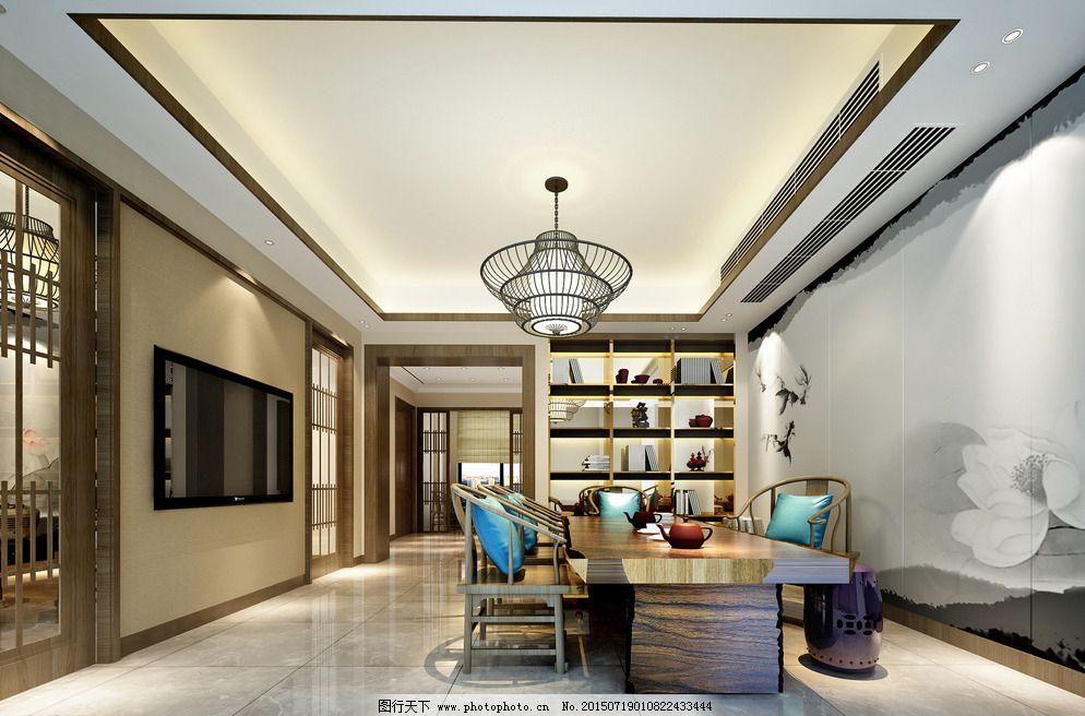 茶室效果图设计