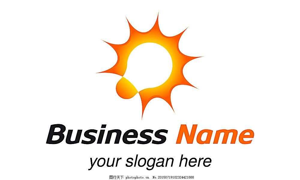 创意电灯泡logo设计