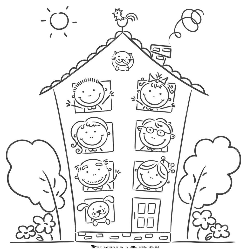 1可爱的卡通儿童设计矢量素材 可爱的卡通儿童设计矢量素材 花束求婚