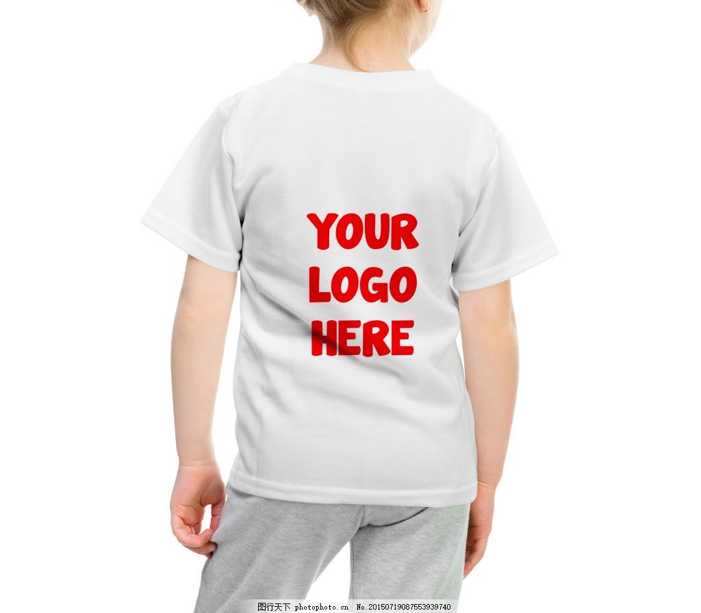 儿童t恤背面样机图片