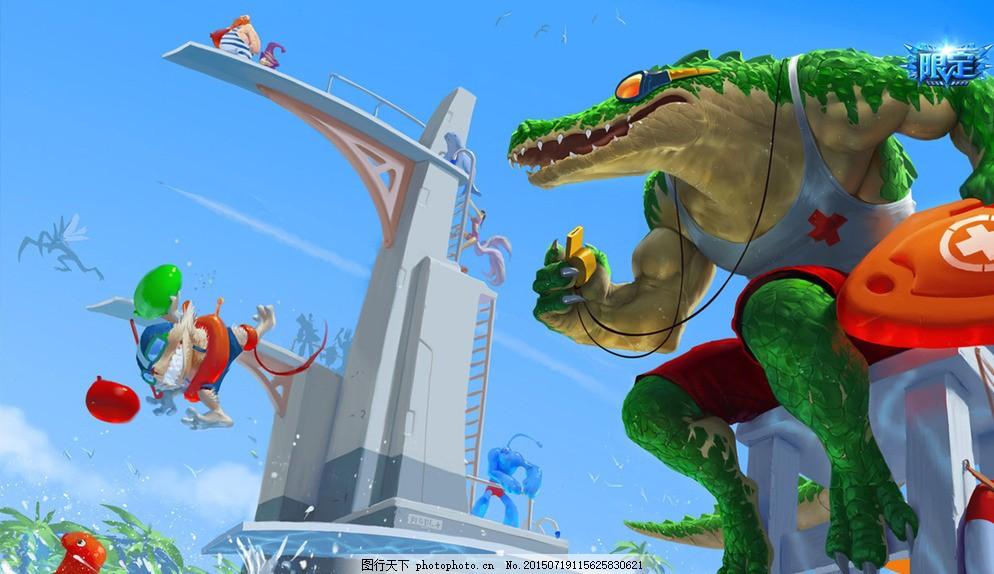 荒漠屠夫 雷克顿 鳄鱼 泳池派对 英雄联盟 lol 动漫 动画 英雄 联盟