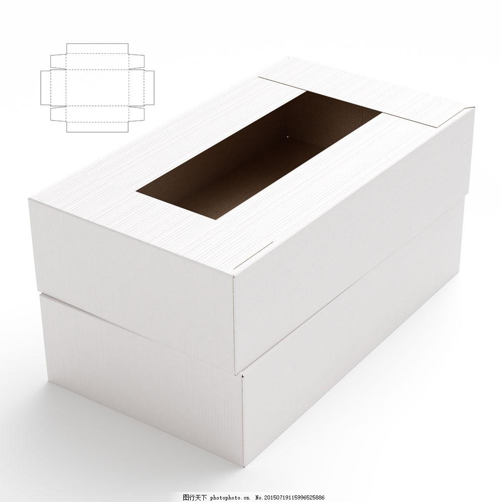 钢刀线 包装设计 包装效果图 空白包装盒 盒子 产品包装盒 长方形纸盒图片