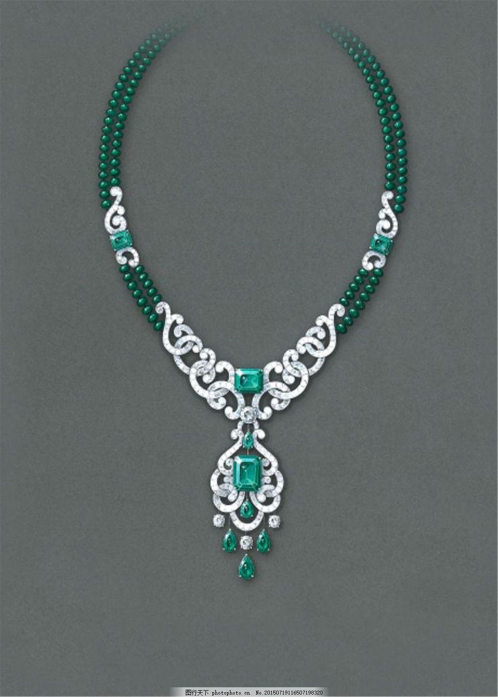 彩色美丽项链珠宝图片设计