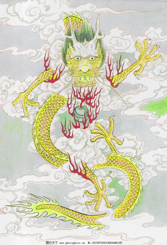 黑白 十二生肖 国画 手绘龙 五爪金龙 神龙神 油画 装饰画 铅笔 动物