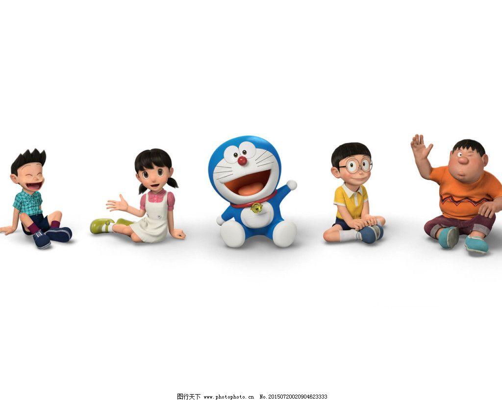 哆啦a梦怀念童年卡通形象_背景图片_底纹边框_图行