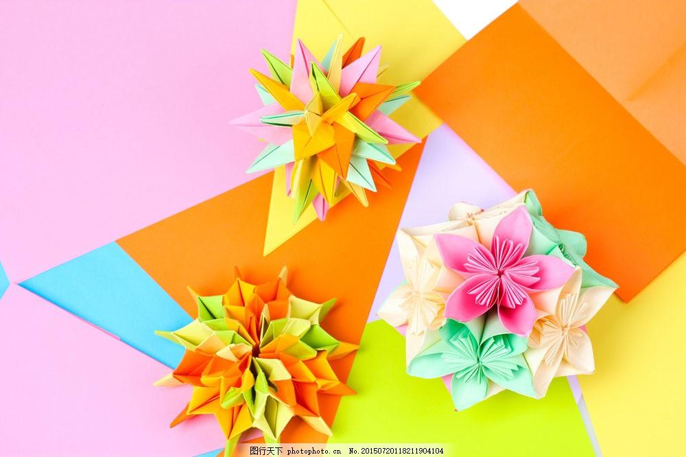 叠纸花朵背景 折纸花朵 折纸鲜花 叠纸花朵 叠纸艺术 叠纸鲜花 其他