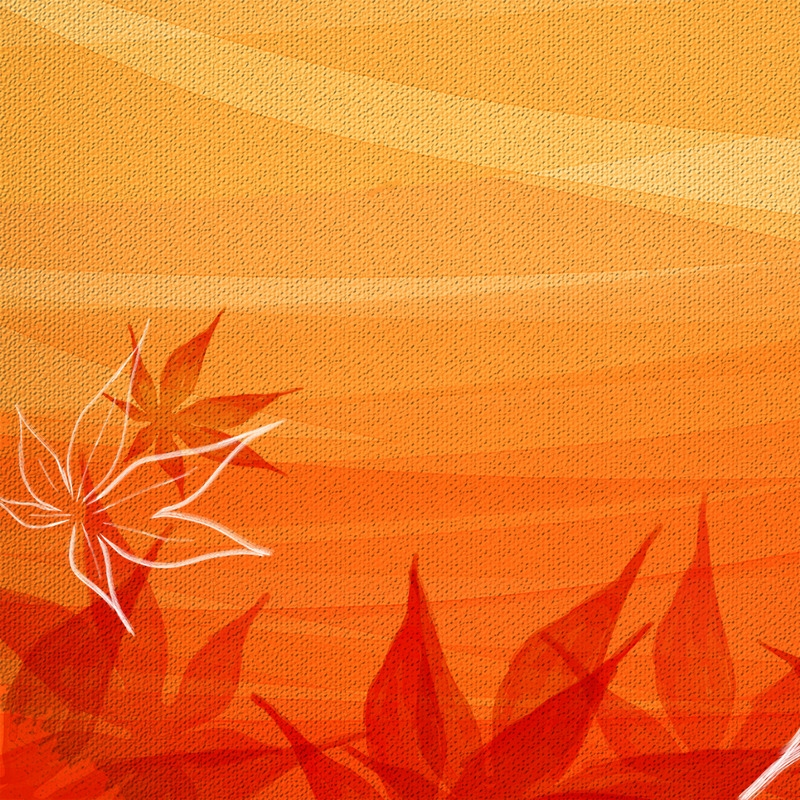 手绘枫叶背景