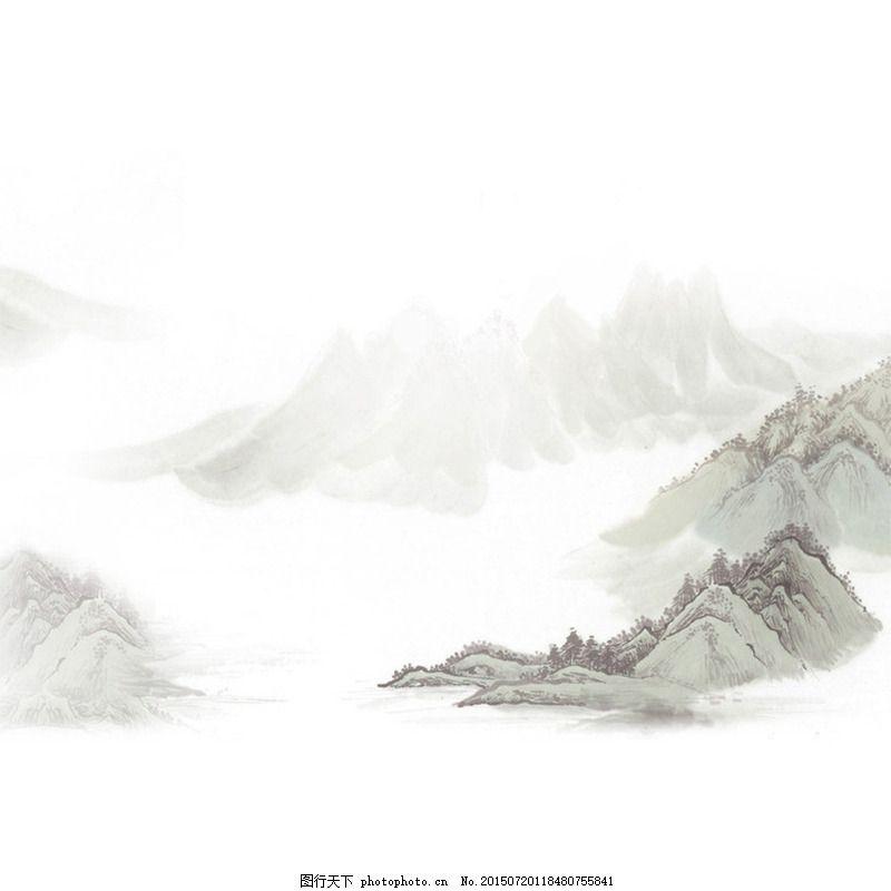 中国风山水画主图