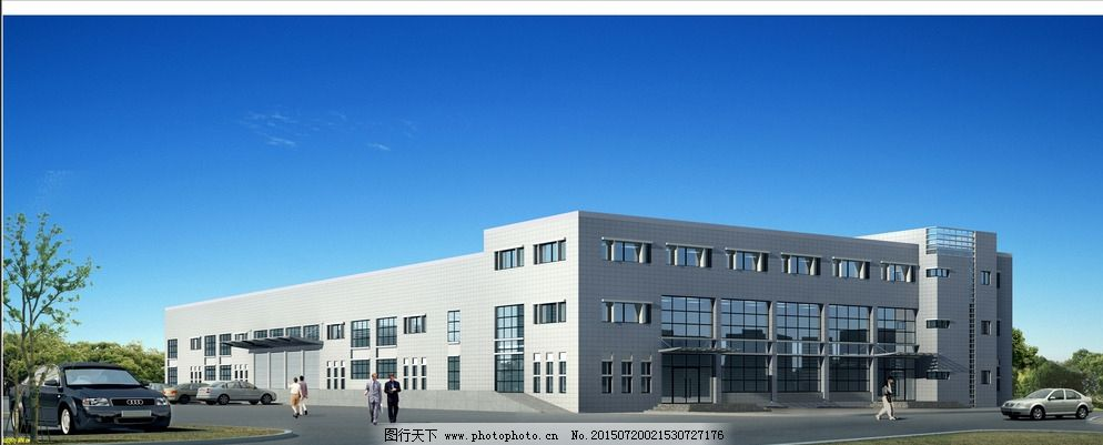 厂房效果图 厂房效果图图片免费下载 单层 钢结构 工业 园区 园区