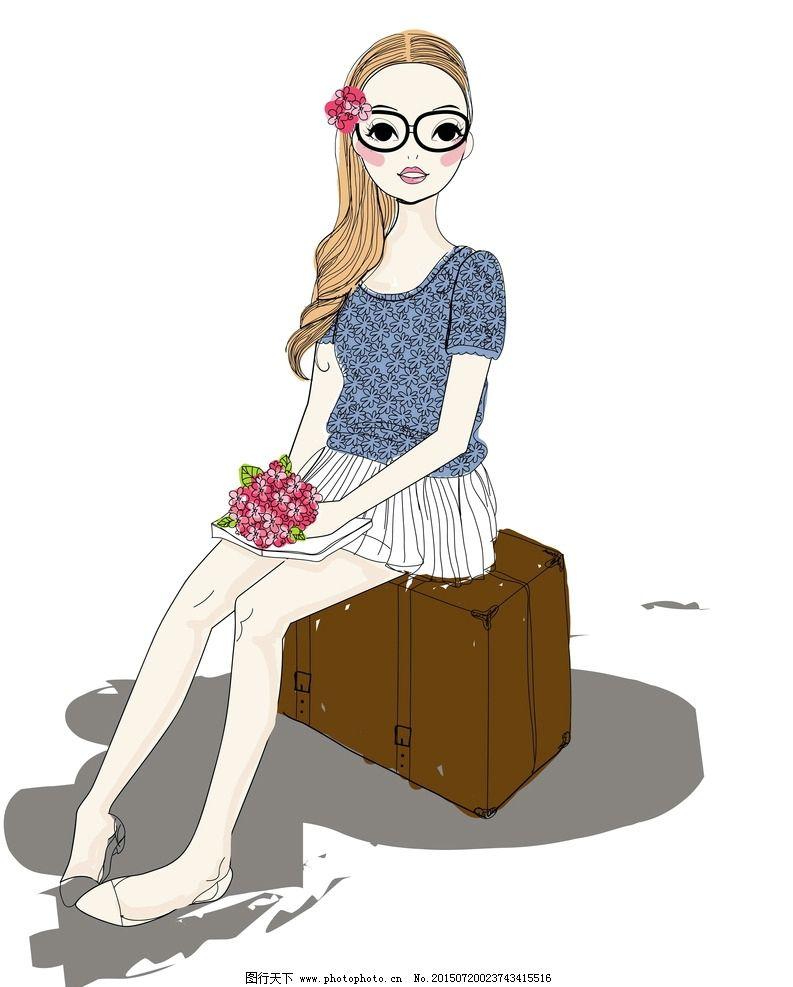 卡通女孩图片_女性妇女_人物图库_图行天下图库