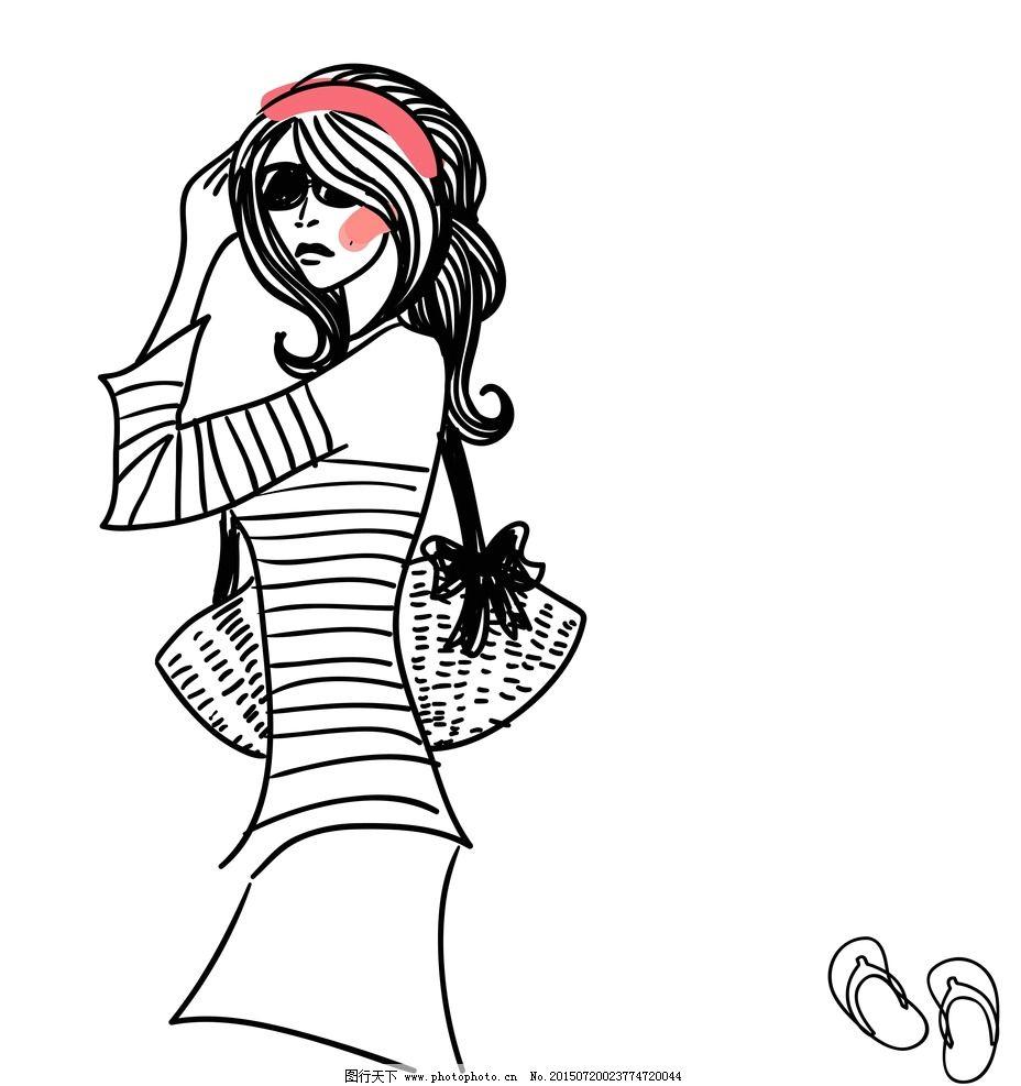 卡通女孩 手绘少女 女人