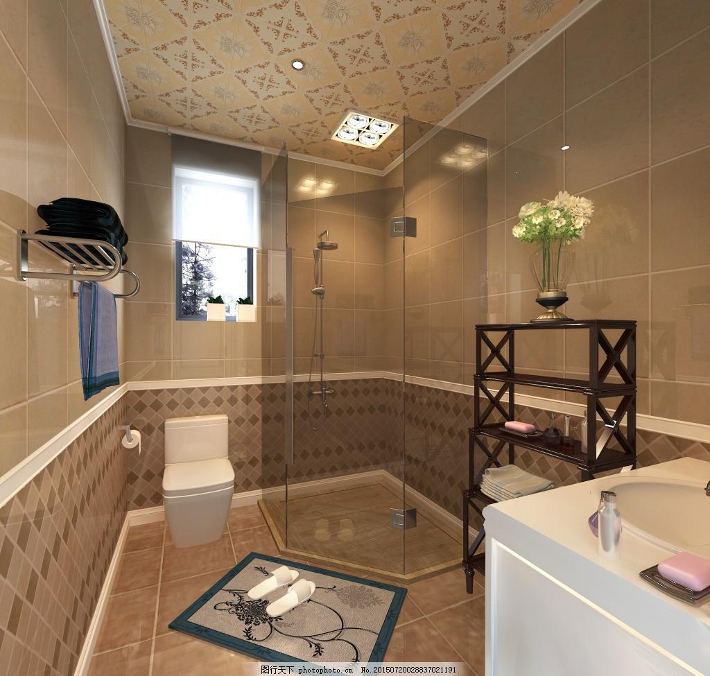 卫生间 欧式 简约 马桶 浴房 厕所 地板 镜子 室内设计 水池