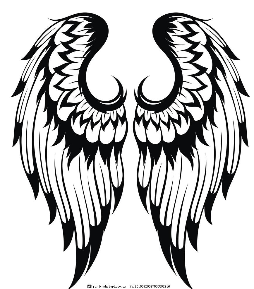 翅膀翅膀翅膀图案素材v翅膀翅膀翅膀鸟类纹身羽毛天使绘制天正建筑手绘柱在哪里图片