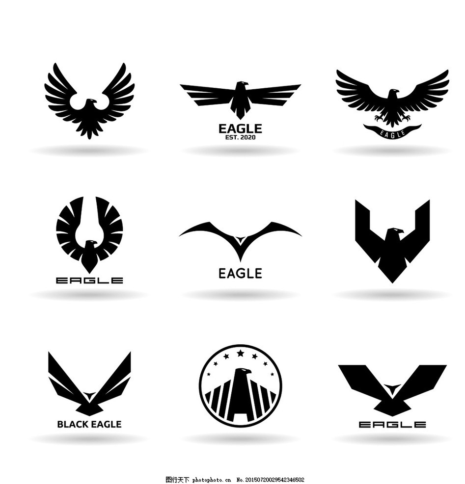 翅膀 翅膀设计 翅膀素材 老鹰 鸟类翅膀 纹身图案 手绘 设计 矢量