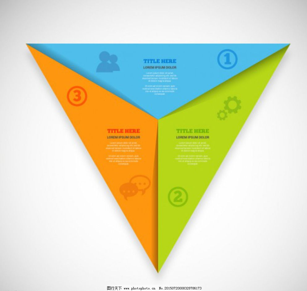 三角形 设计 图表 网页 展板模板 彩色 三角形 图表 设计 网页 ppt图片