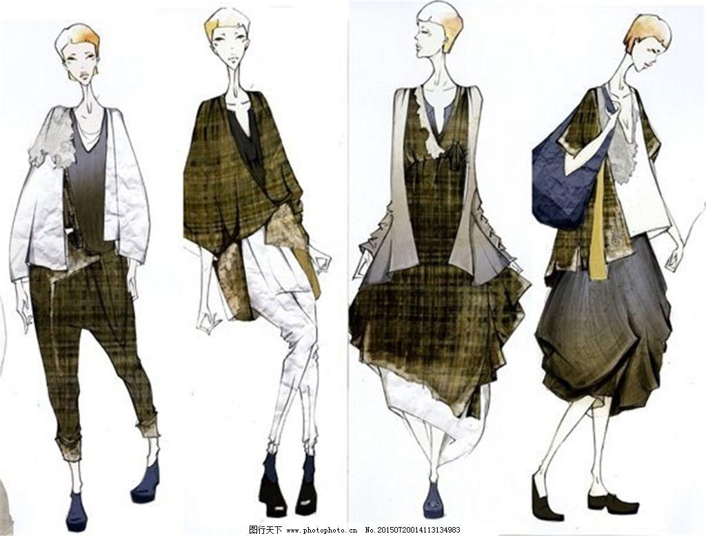 简洁手绘服装设计