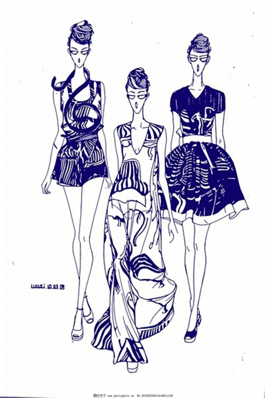 大方手绘服装设计一系列