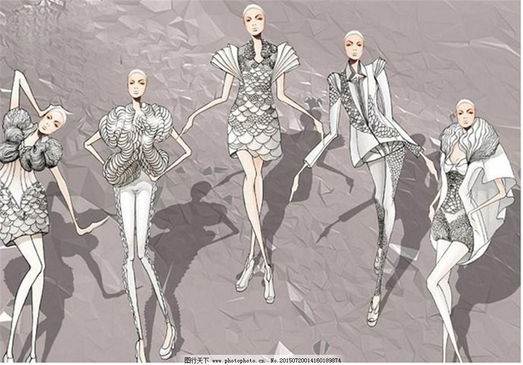 手绘服装设计一系列