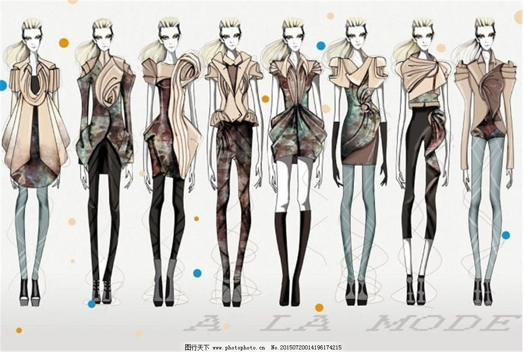 美观手绘服装设计-图行天下图库