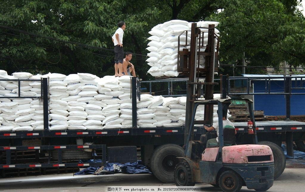 运输 货场 叉车 货物 工作 摄影 现代科技 交通工具 72dpi jpg