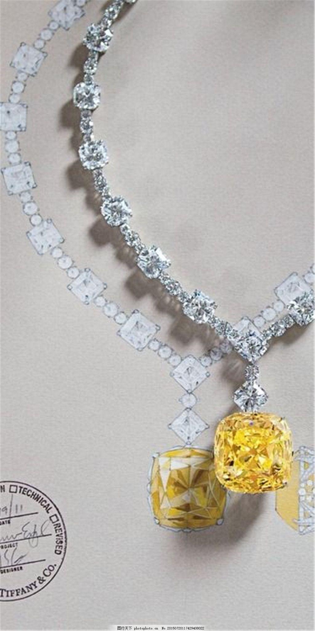 手绘项链珠宝图片素材