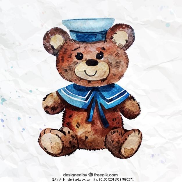手画泰迪熊
