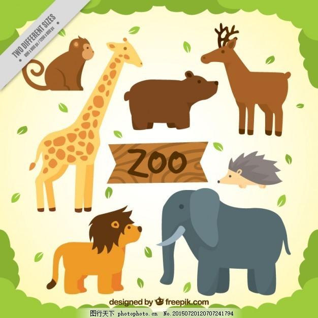 自然 动物 狮子 可爱 大象 熊 鹿 热带 长颈鹿 背包 可爱的动物 野生