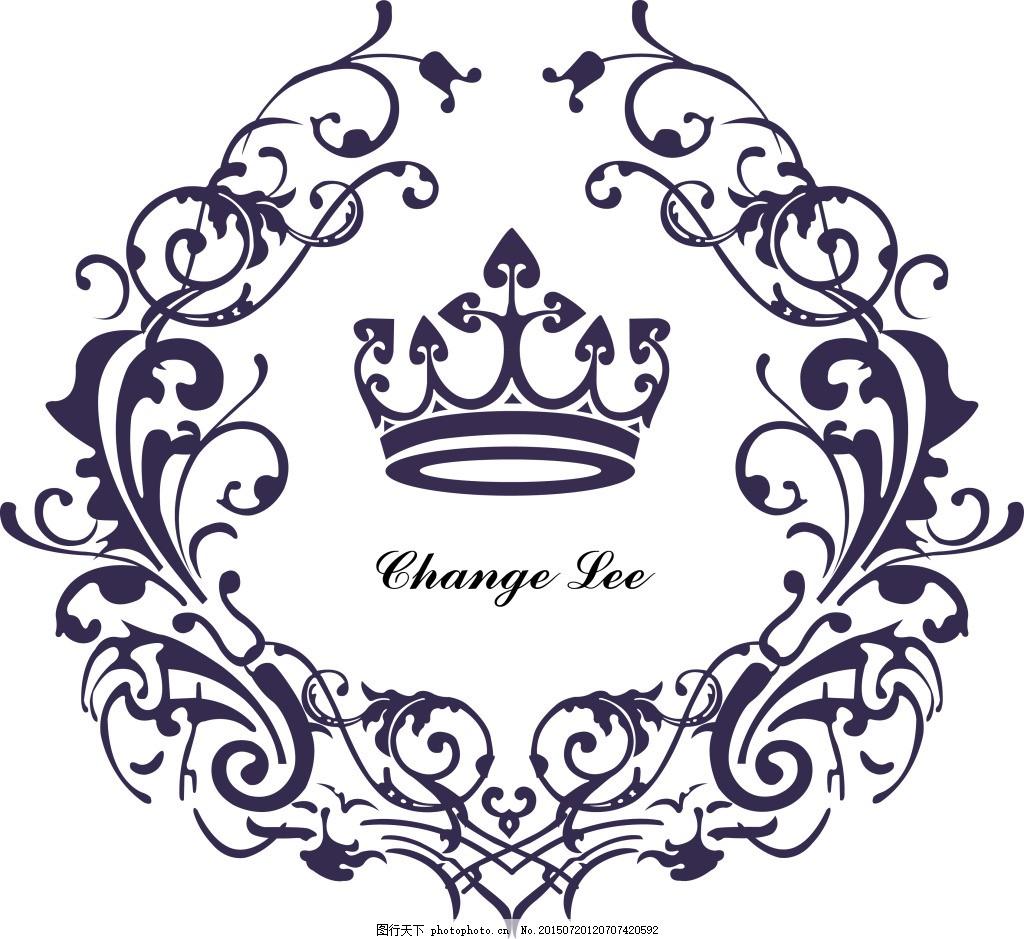 花边广告标志素材 欧式的 皇冠 矢量图 白色