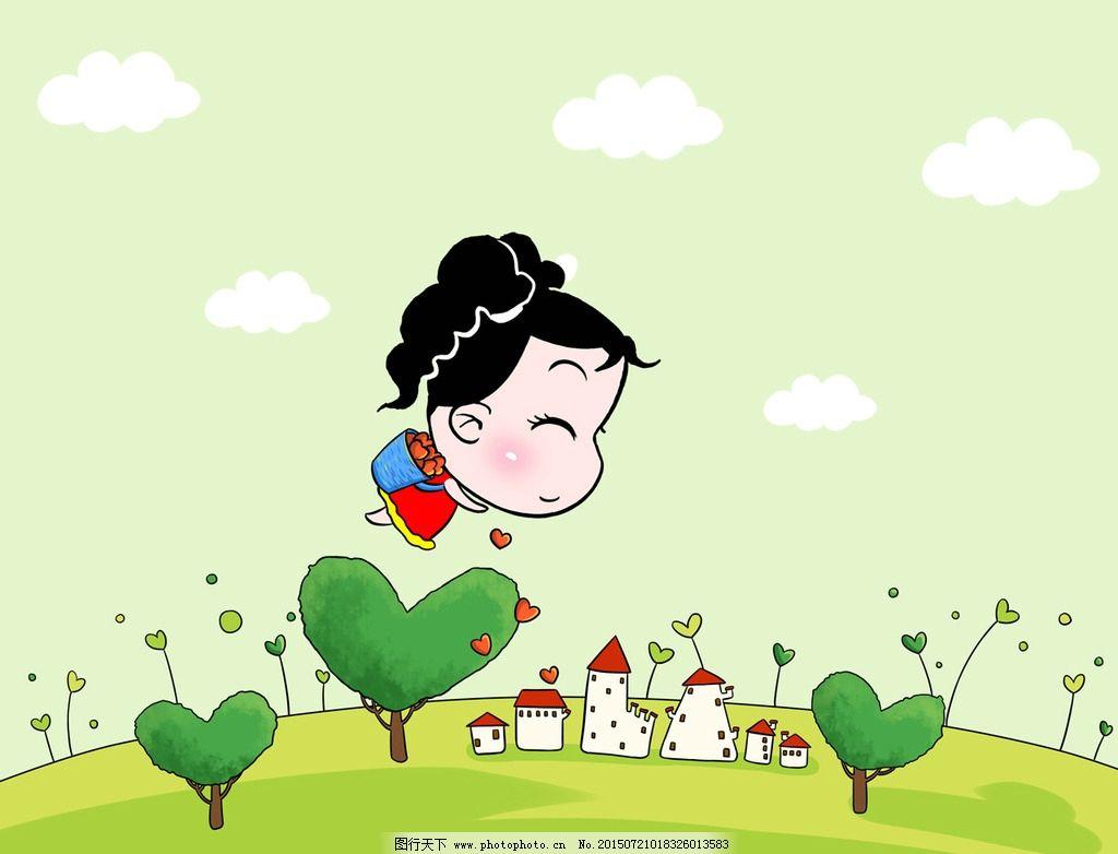 妞妞淘卡通可爱壁纸之小镇图片_动漫人物_动漫卡通_图