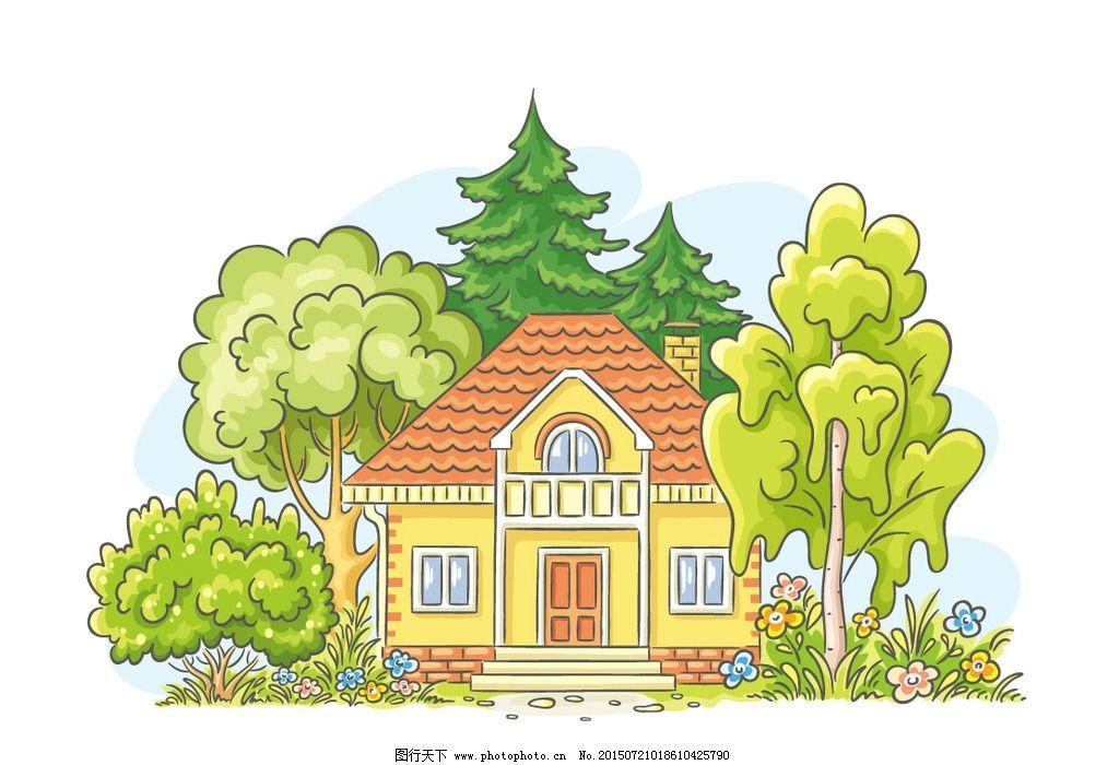 建筑植物群手绘