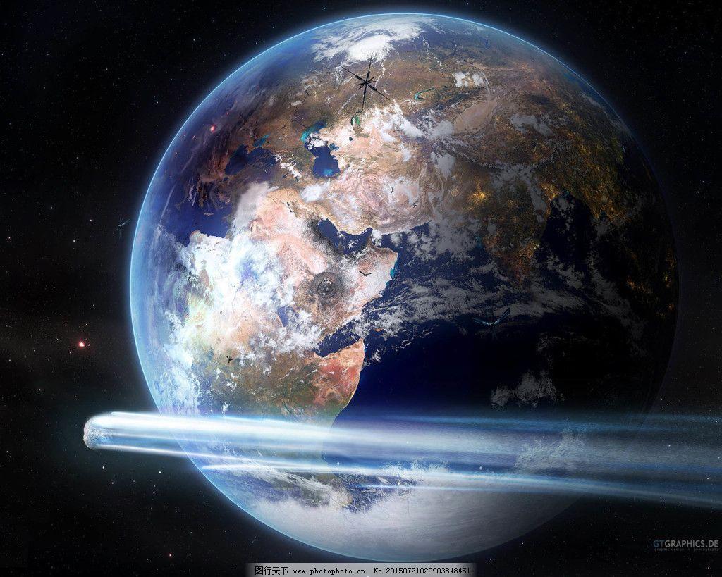 地球炫酷星空创意背景图片