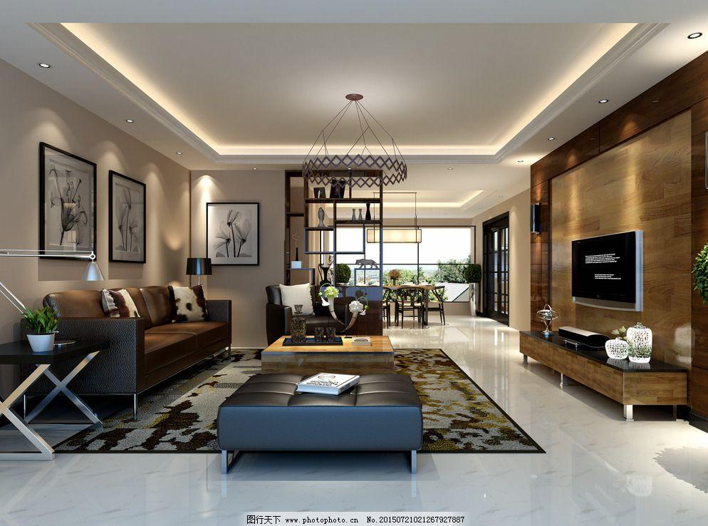 现代 欧式客厅图片_室内模型_3d设计_图行