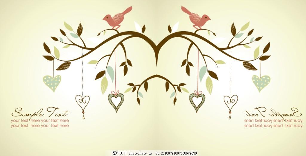 壁画 简约壁画 鸟树 白色图片