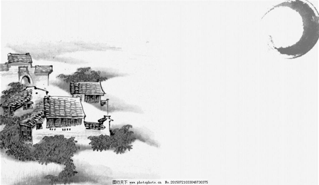 梅花喜鹊水墨画图片图片