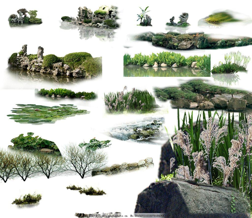 景观手绘喷泉平面图