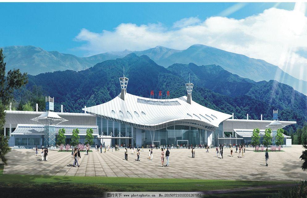风景 环境设计 火车站 景观设计 设计        张家界 张家界火车站
