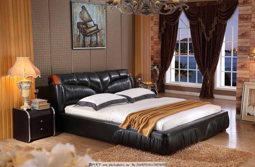 精品软体床 奢华软体床 欧式软体床 室内设计 环境设计 设计 家具背景