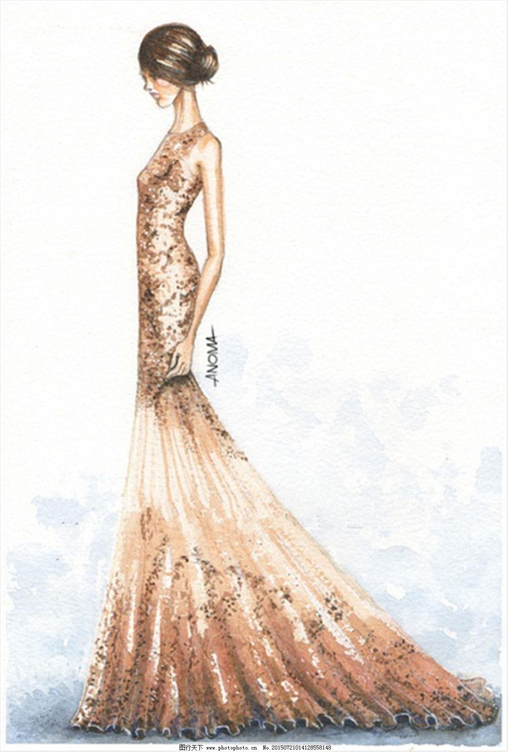 手绘服装设计一系列4