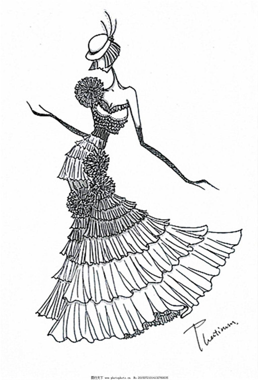 手绘服装设计一系列2_手绘服装设计_服装设计_图行