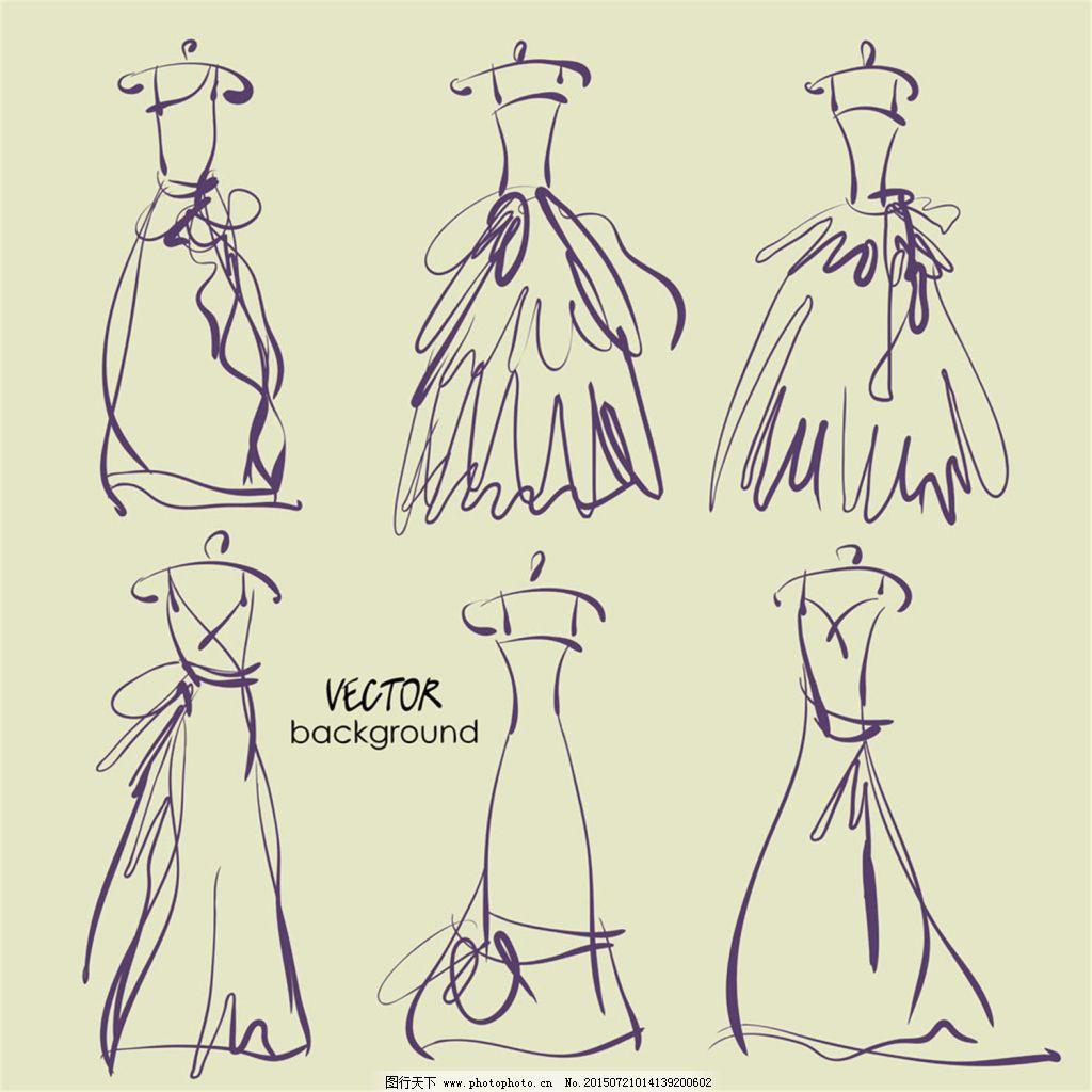 手绘服装设计一系列6