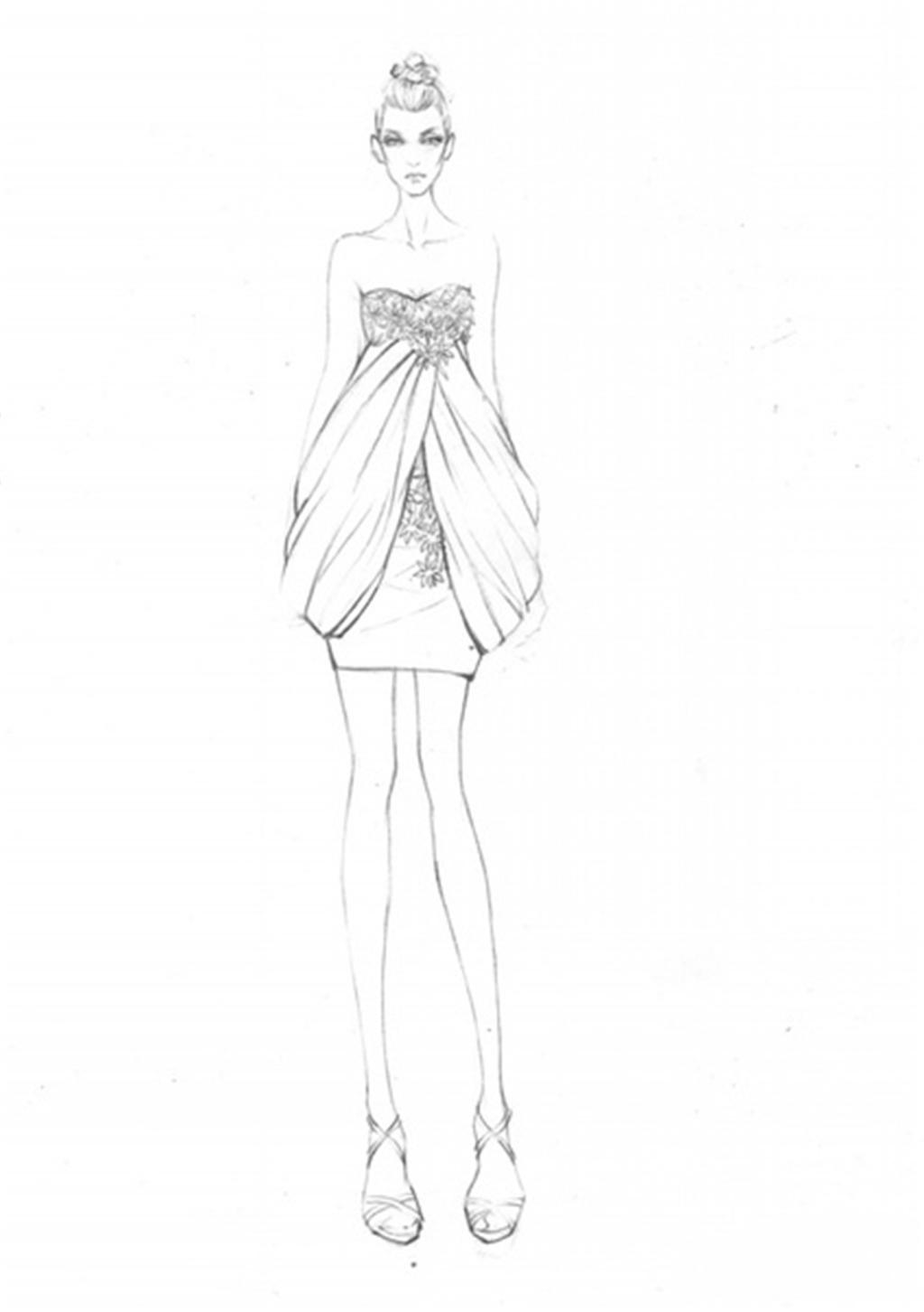 手绘服装设计2